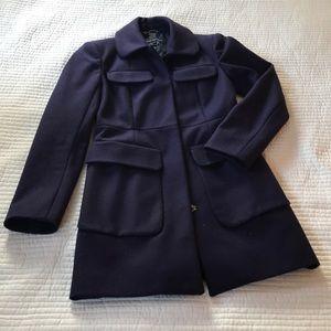 Aubergine tailored wool coat